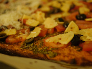 Veggie Pizza on Sweet Potato Crust