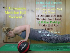 Six Moves Full Body Med Ball Workout