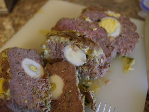 Meatloaf with Hidden Eggs