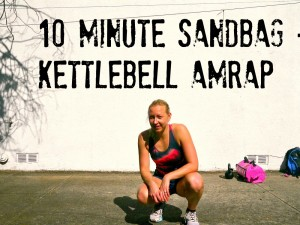 10 Minute Sandbag + Kettlebell AMRAP (Full Video)