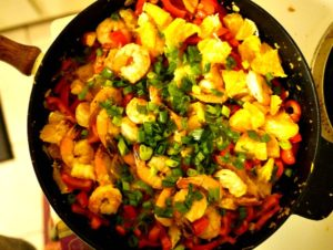 Saturday Bootcamp Workout and Shrimp Orange Skillet