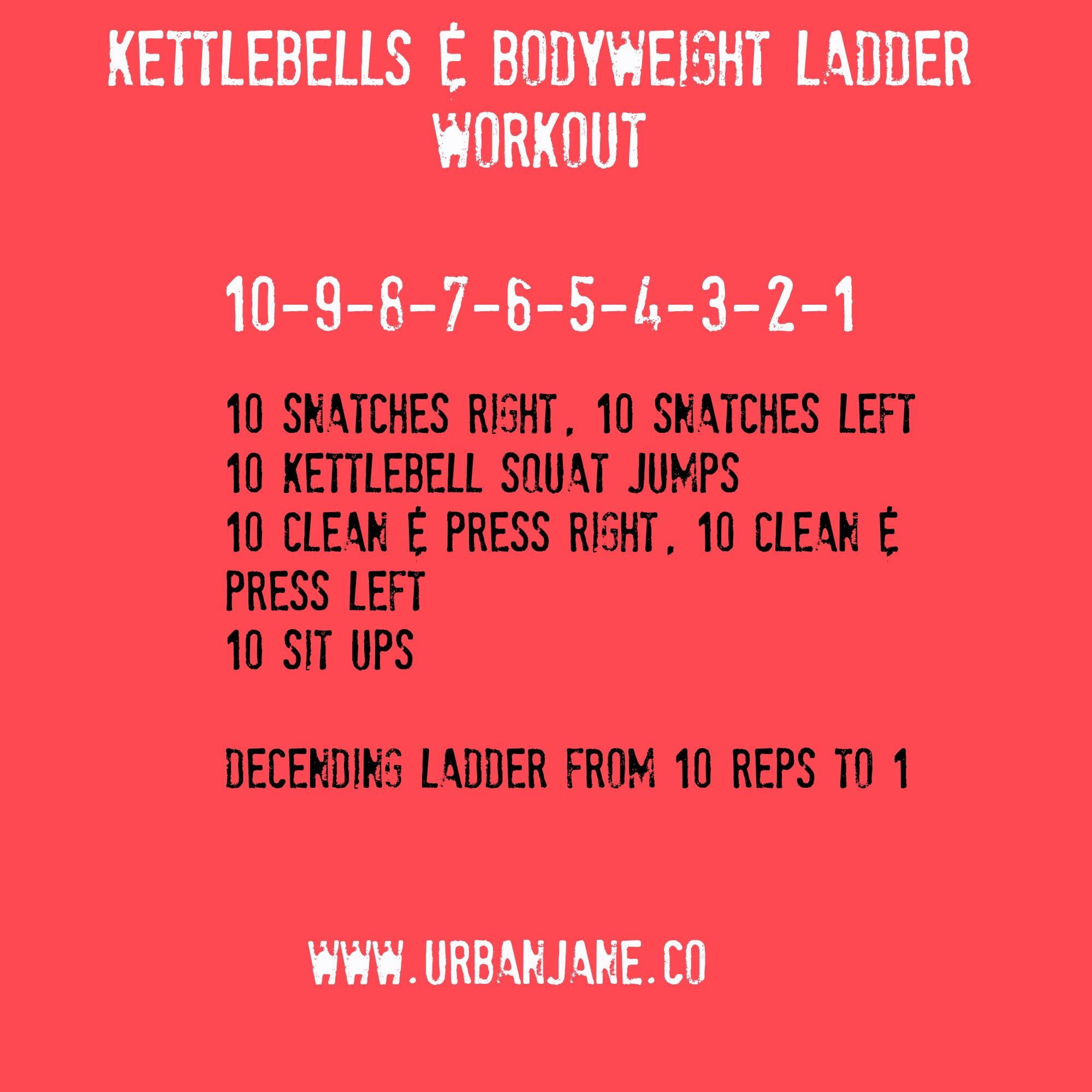 Kettlebell Workout Dvds Kettlebell Fitness Training Dvd: Kettlebell & Bodyweight Ladder Workout