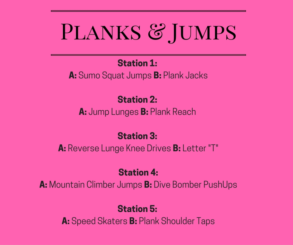 Planks&jumps workout