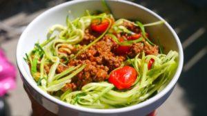 Zuccini Pasta Bowl
