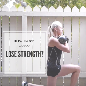 How Fast Do You Lose Strength When You Can't Train?